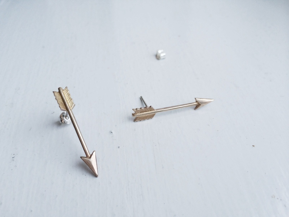 Gold Brass Arrow Stud