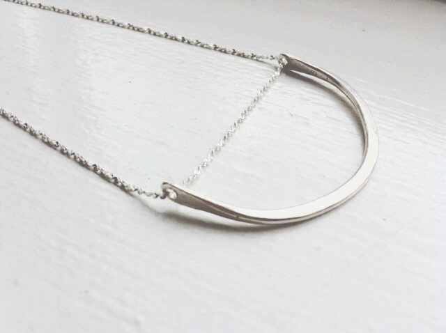 Sterling Silver U Necklace