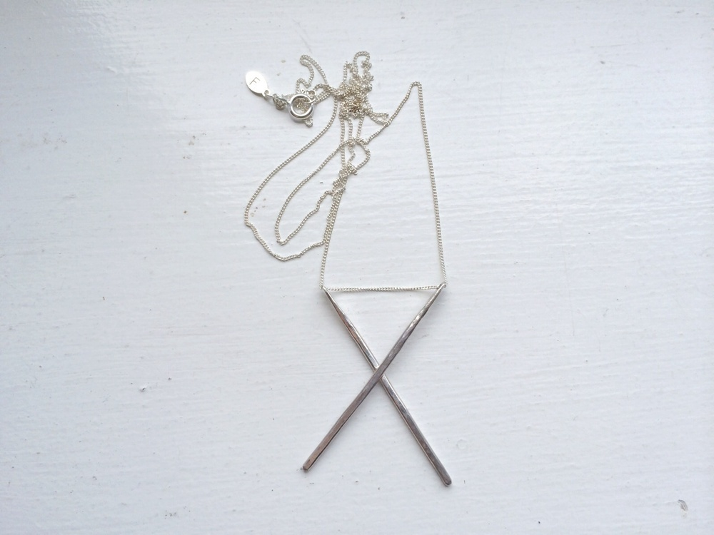 Sterling Silver X Necklace