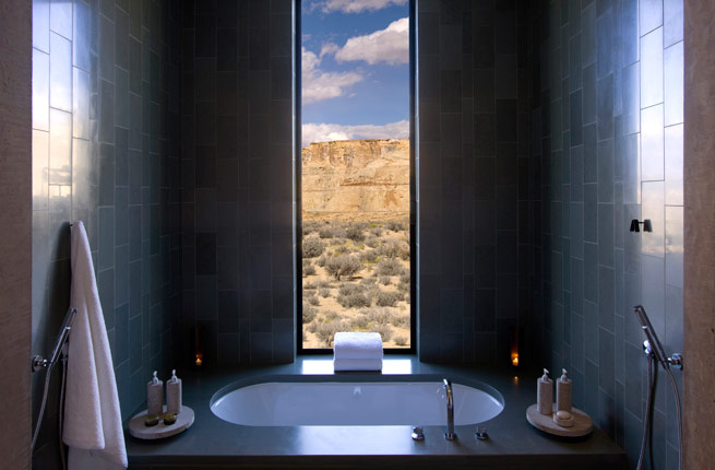 Amangiri-Best-Hotel-Bathroom- Canyon Point UT