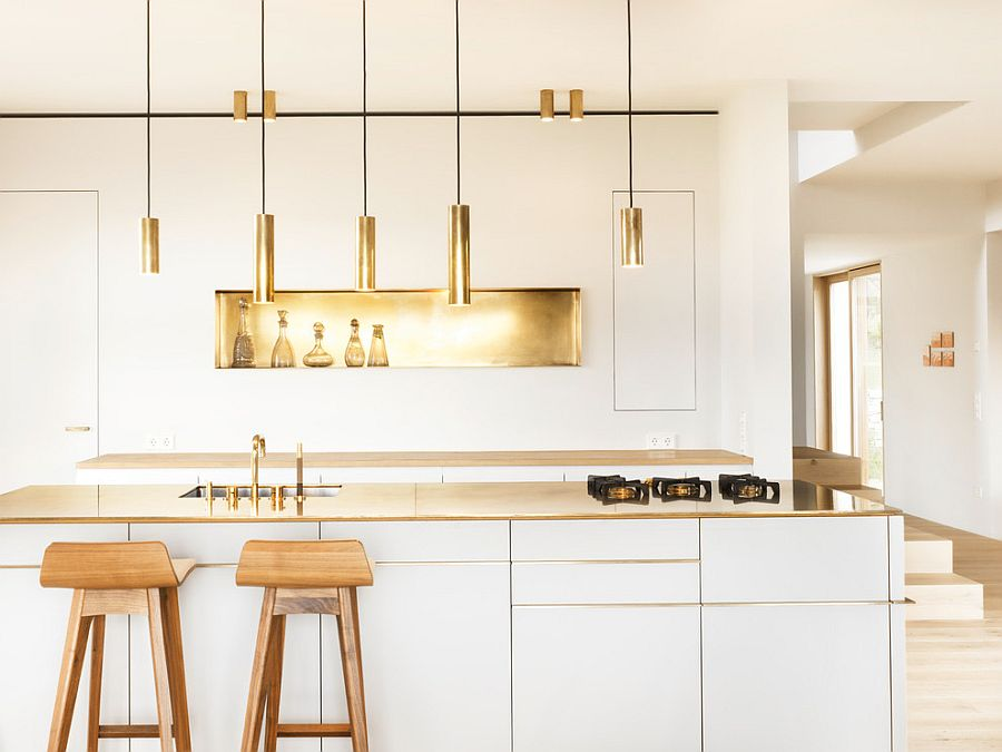 Wkf co here s to gold who knows fashion for Modern scandinavian kitchen design