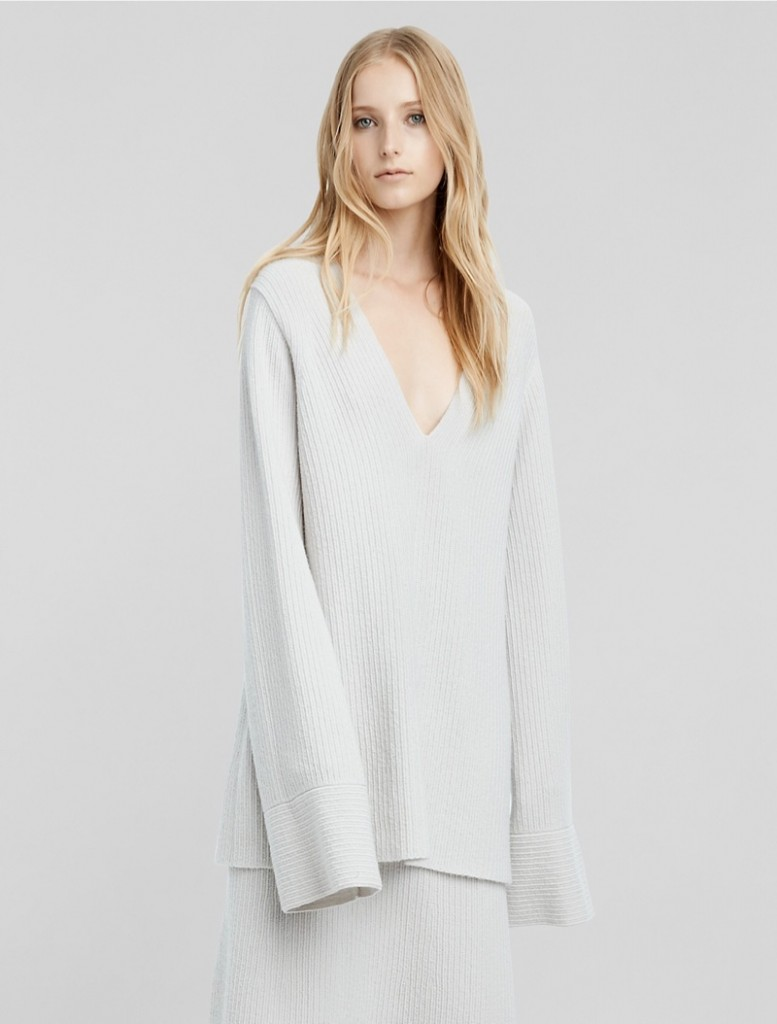 Calvin-Klein-Cashmere-Boucle-Flared-Sleeve-Sweater