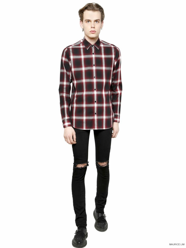 Saint-Laurent-Red-Tartan-Plaid-Checked-Cotton-Poplin-Shirt_Fall-Winter-2014_2-768x1024